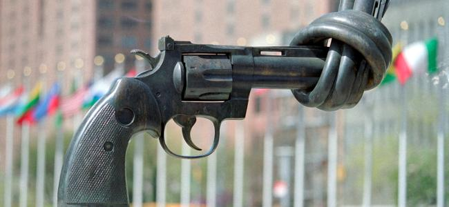 UN chief asks to regulate, control small arms. Emphasizes controlling civilian arms.