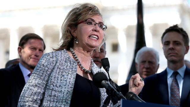 Giffords ducks question about her tactics being just like Sarah Palin's 'crosshairs'
