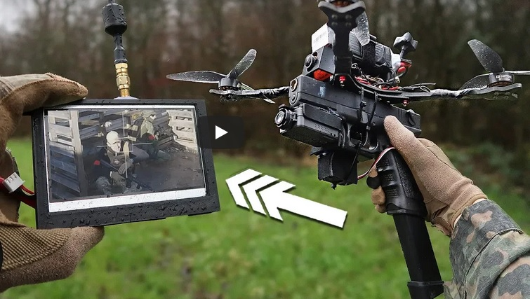 Drone with Full-Auto Glock is actually very do-able…